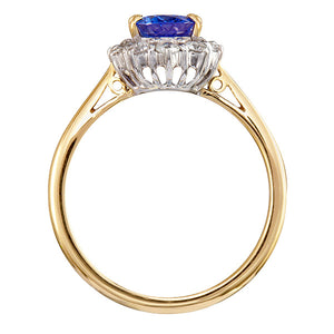 Marlborough Tanzanite & Diamond Ring