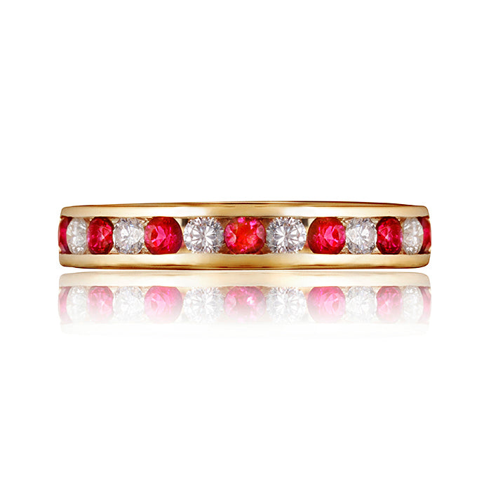 Classic Ruby & Diamond Eternity Ring