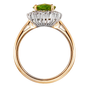 Knightsbridge Peridot & Diamond Ring