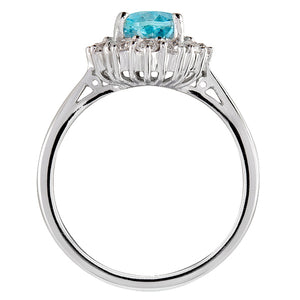 Knightsbridge Aquamarine & Diamond Ring