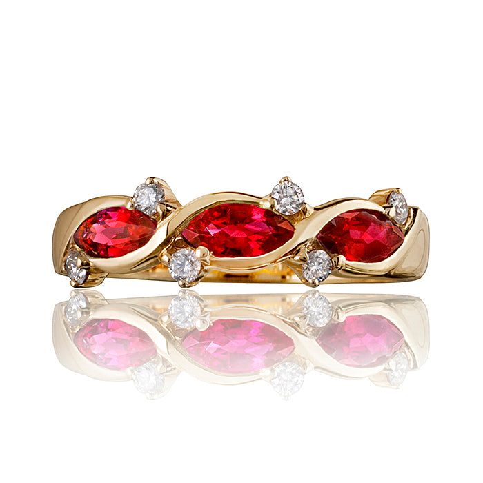 Honour Marquise Ruby & Diamond Ring