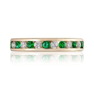 Classic Emerald & Diamond Eternity Ring