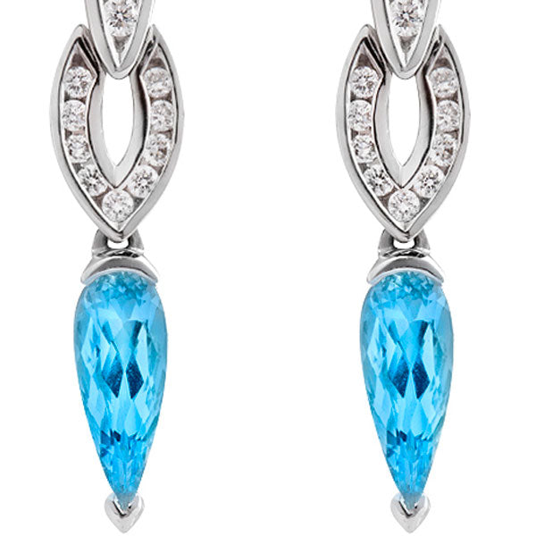 Countess Aquamarine & Diamond Earrings