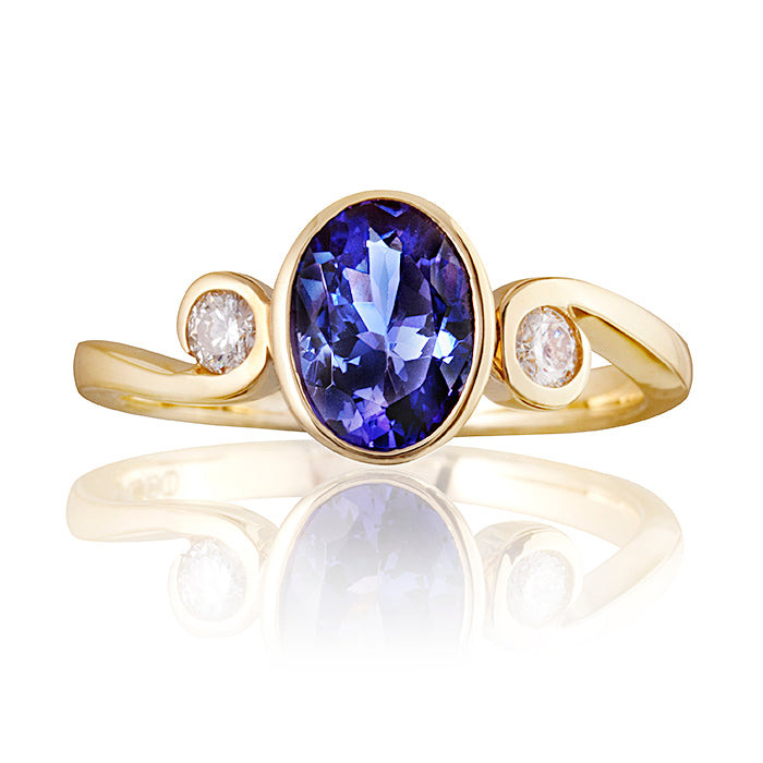 Newbury Tanzanite & Diamond Ring