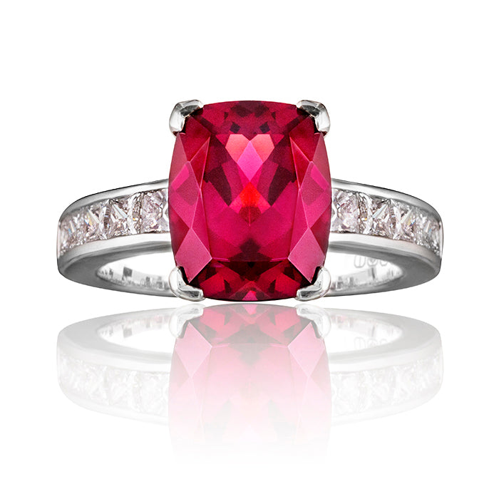 Guildford Garnet & Diamond Ring