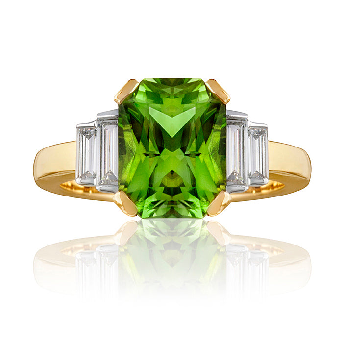 Goodwood Peridot & Diamond Ring