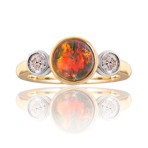Harrogate Opal & Diamond Ring