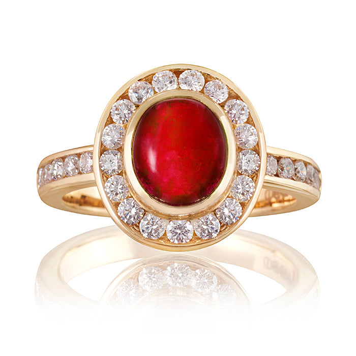 Orient Ruby & Diamond Ring