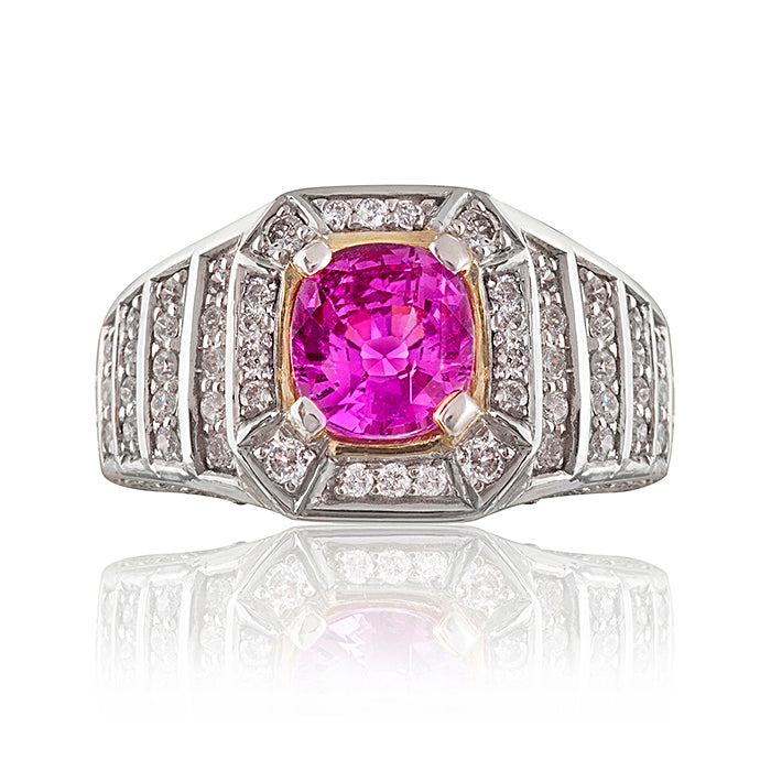 Downtown Pink Sapphire & Diamond Ring