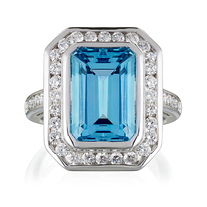 Heritage Aquamarine & Diamond Ring