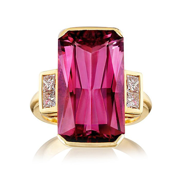 Shakespeare Tourmaline & Diamond Ring