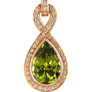 Peridot & Diamond Ring Pendant