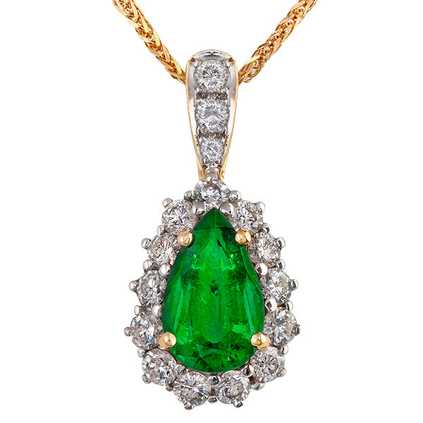 Cavendish Emerald & Diamond Pendant