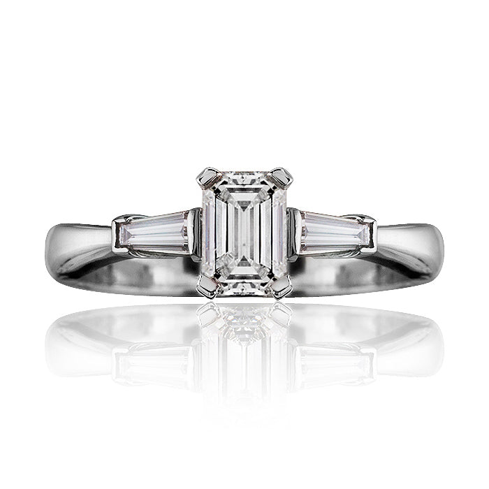 Windsor Trilogy Emerald Cut Diamond Ring