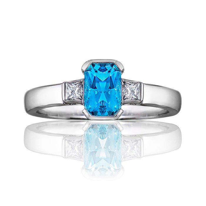 Viscount Aquamarine & Diamond Ring