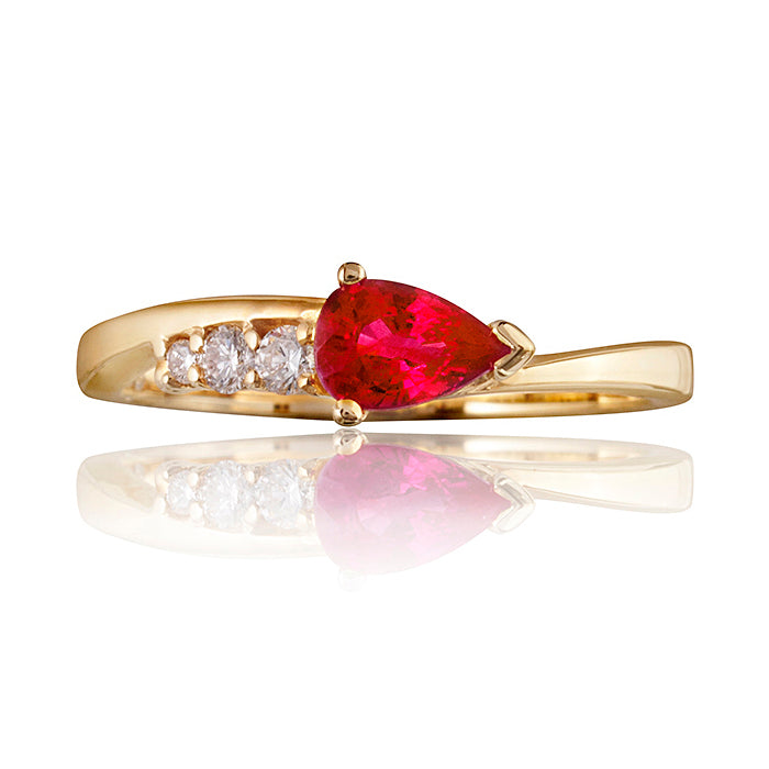 Comet Gold Ruby & Diamond Ring
