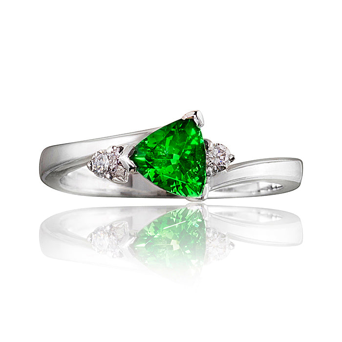Constellation Tsavorite Garnet & Diamond Ring