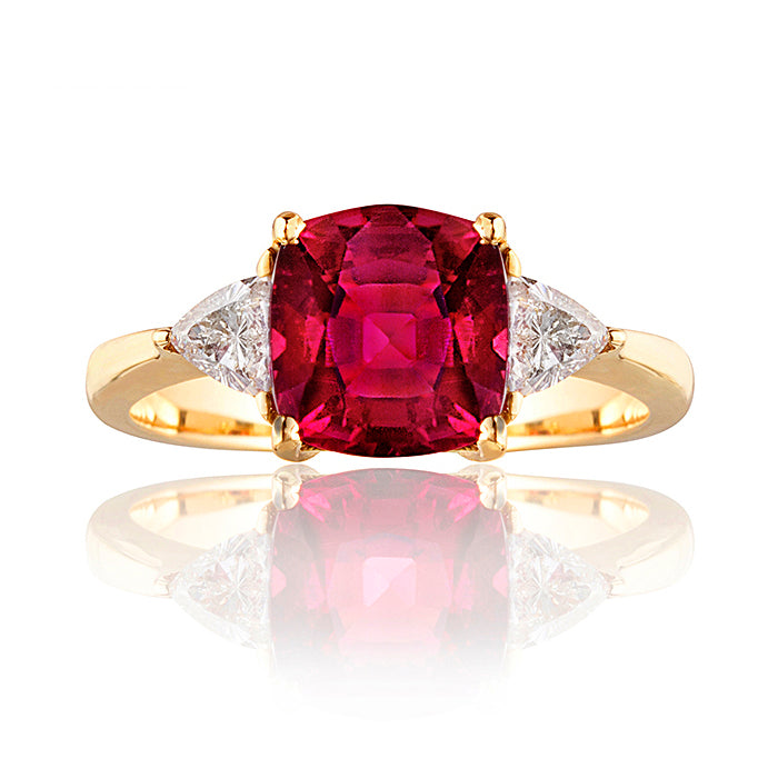 Stratford Rubellite Tourmaline & Diamond Ring