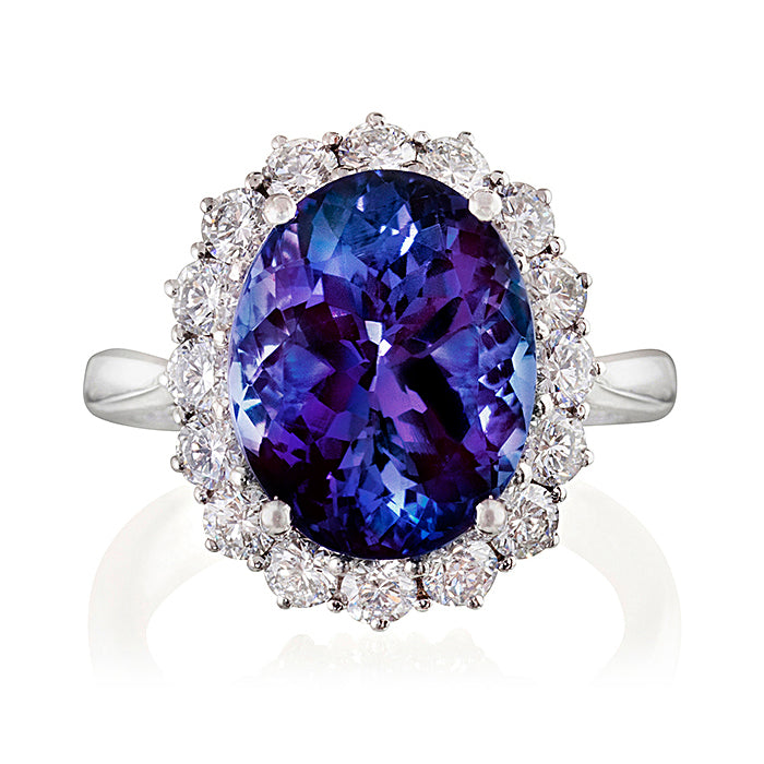 Zara Tanzanite & Diamond Cluster Ring