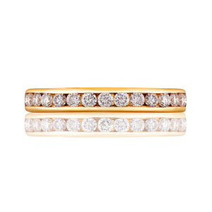 Classic Gold Channel Set Diamond Ring