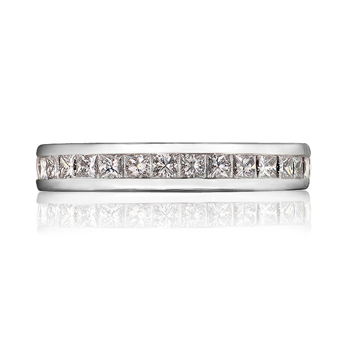 Classic Princess Cut Diamond Eternity Ring