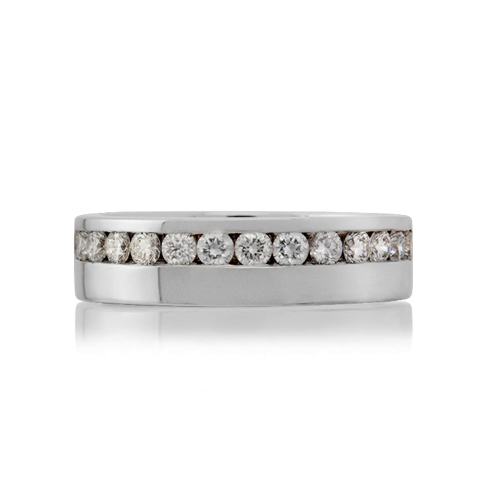 Baroque Channel Set Diamond Eternity Ring