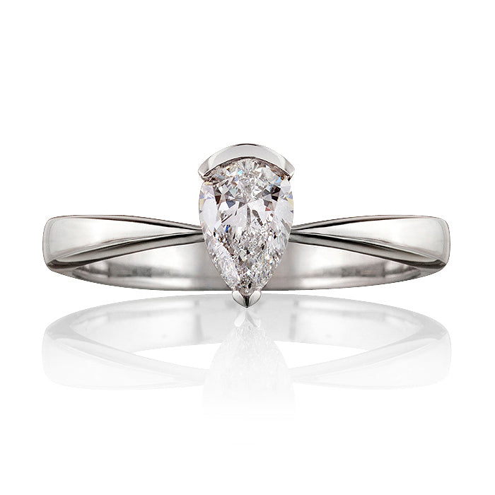 Classic Pear Shaped Diamond Ring
