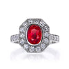 Platinum Ruby and Diamond Grand Heritage Ring