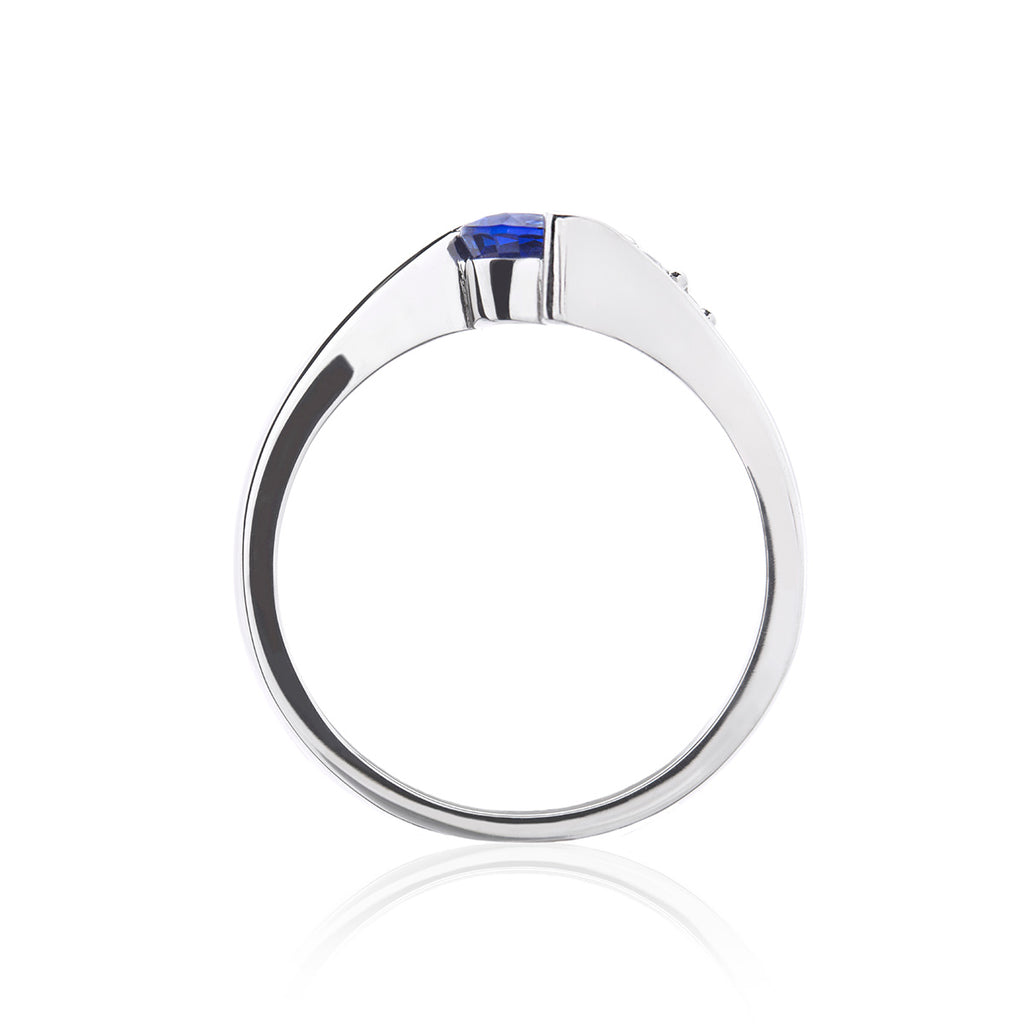 Shooting Star Sapphire and Diamond Ring