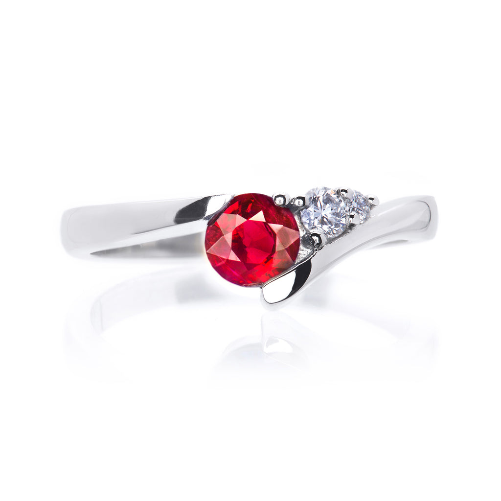 Shooting Star Ruby and Diamond Ring
