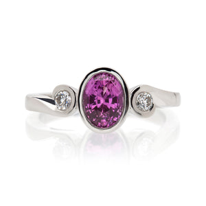 Grand Mayfair Pink Sapphire and Diamond Ring