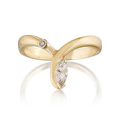 Chatsworth Diamond Wishbone Ring