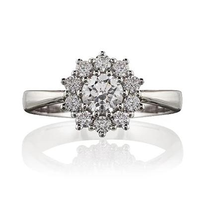 Knightsbridge Diamond Cluster Ring