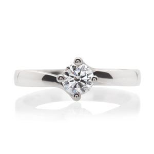 Platinum and Diamond Compass Point Ring