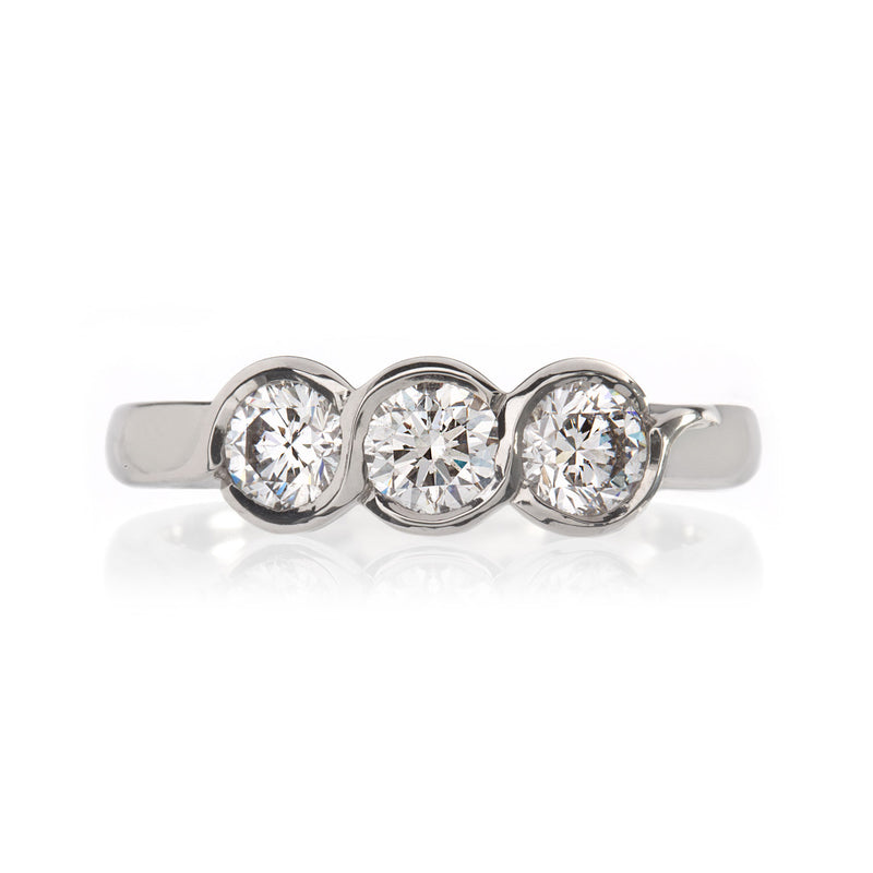 Platinum Three Stone Elgin Diamond Ring