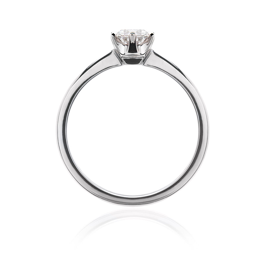 Classic Woolfe Solitaire Diamond Ring