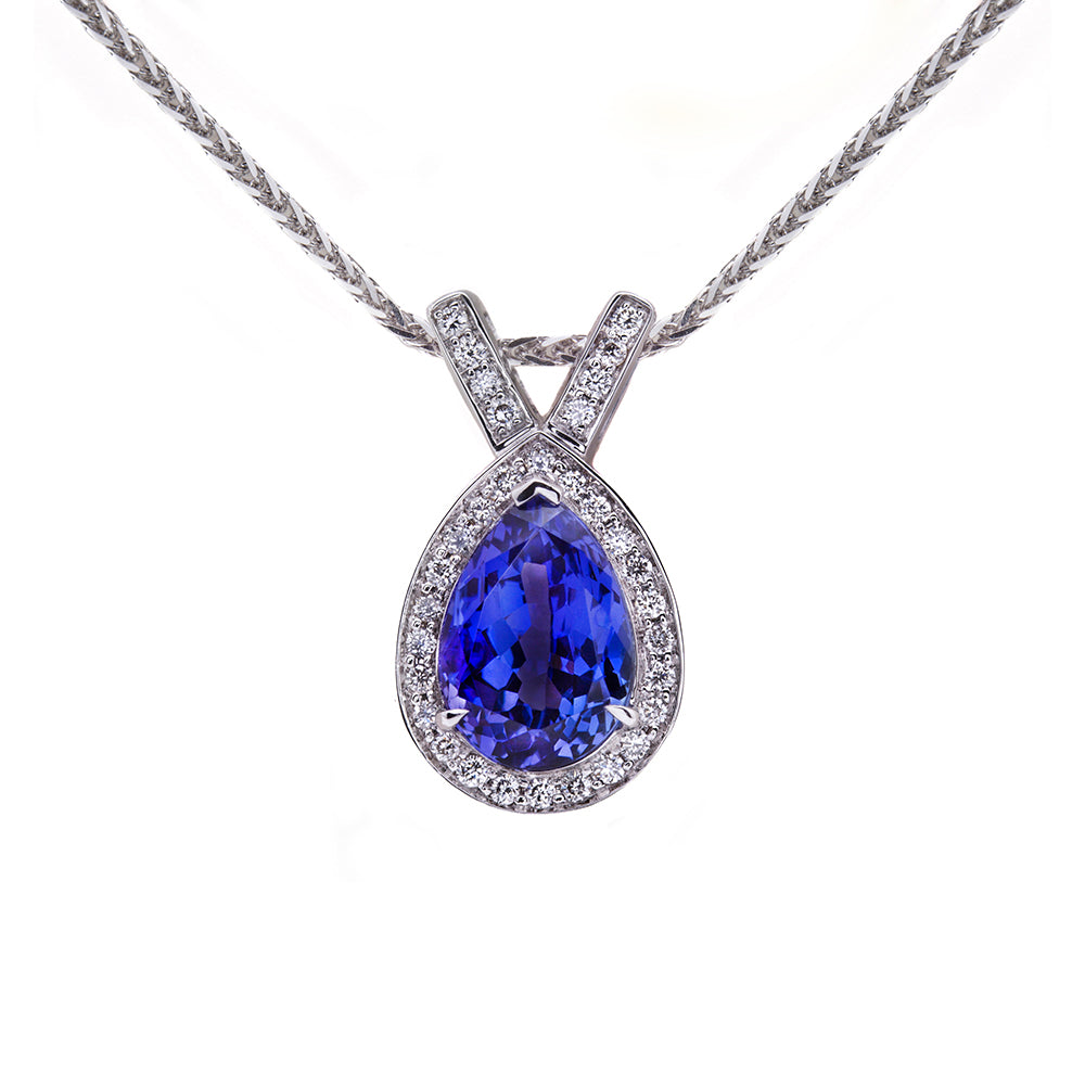 Cavendish Tanzanite & Diamond Pendant