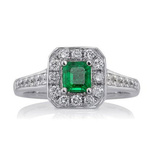 Emerald and Diamond Heritage Ring