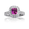 Pink Sapphire and Diamond Heritage Ring