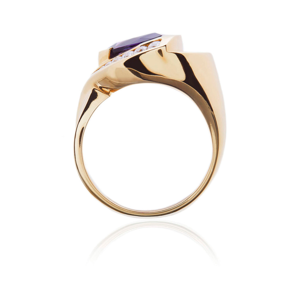 Aspen Amethyst & Diamond Ring