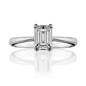 Classic Emerald Cut Diamond Ring