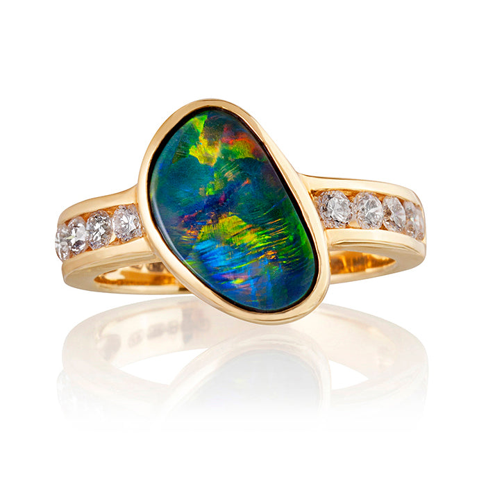 Guildford Opal & Diamond Ring