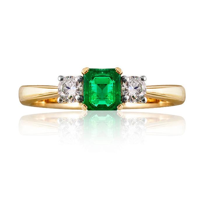 Kent Emerald & Diamond Ring