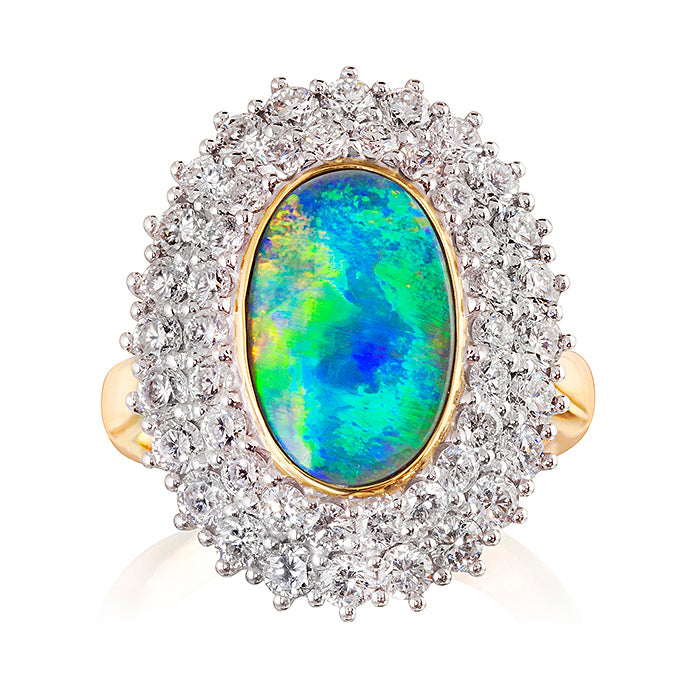Worcester Opal & Diamond Ring