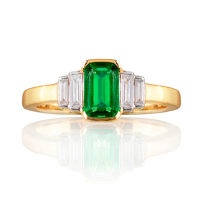 Goodwood Emerald & Diamond Ring