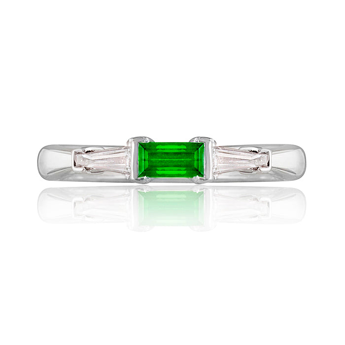 Keswick Tsavorite Ganret & Diamond Ring