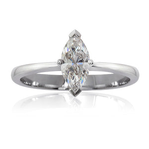 Platinum Marquise Diamond Ring