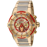 Invicta Men's 25781 Marvel Quartz Chronograph Gold, Red Dial Watch