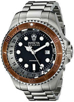 Invicta Men's 16972 Reserve Quartz 3 Hand Black Dial Watch