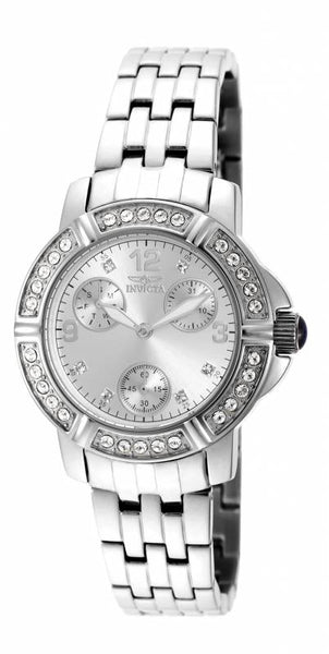 Invicta Women's 18963 Angel Quartz 3 Hand Silver Dial Watch